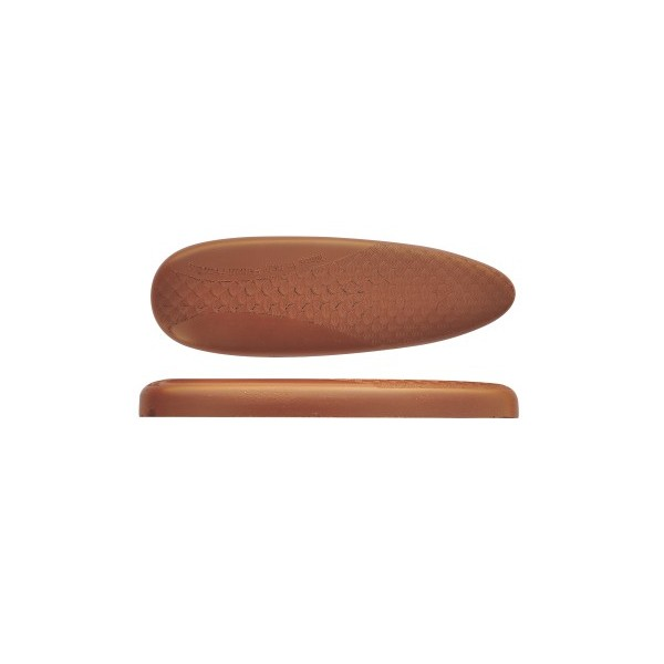 BUTT PLATE MICROCELL H15 EXTRASOFT BROWN 15mm