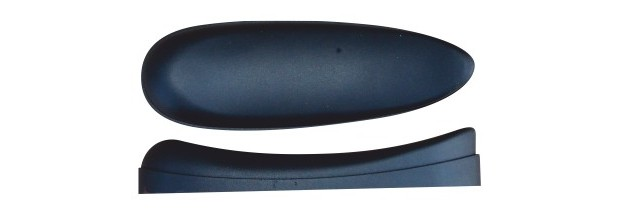 BUTT PLATE MICROCELL CURVED H16,50 BLACK 16,50mm