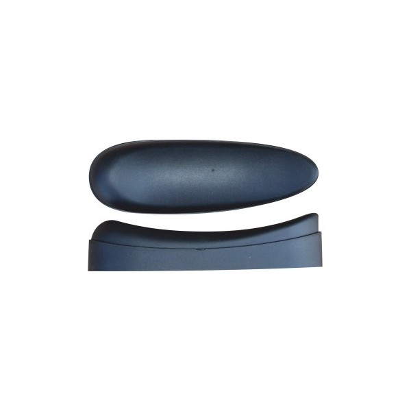 BUTT PLATE MICROCELL CURVED H25 BLACK 25mm