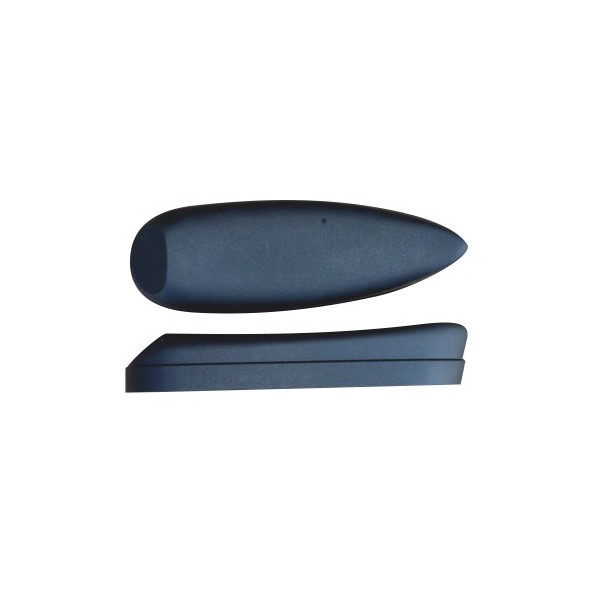BUTT PLATE MICROCELL SLOPING-HEAD H23,50 BLACK 23,50mm