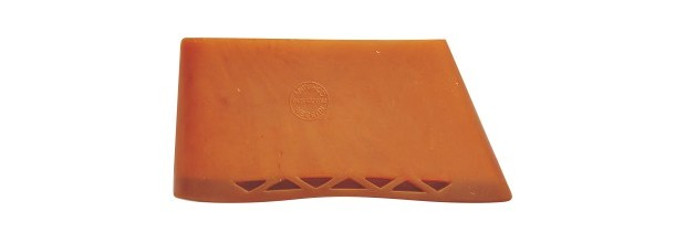 BUTT PLATE RUBBER STANDARD 134x42mm BROWN