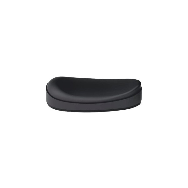 BUTT PLATE RUBBER TRAP H25 BLACK 25mm