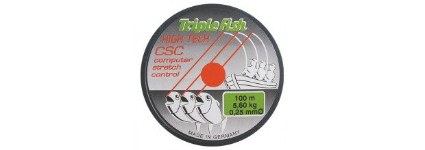 MYLON ΜΕΣΙΝΕΖΑ TRIPLE FISH HIGTECH GREY-GREEN 100Μ