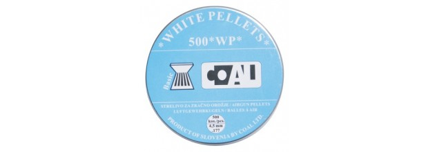 COAL AIRGUN PELLETS 200WP BASIC FLAT 4.5mm