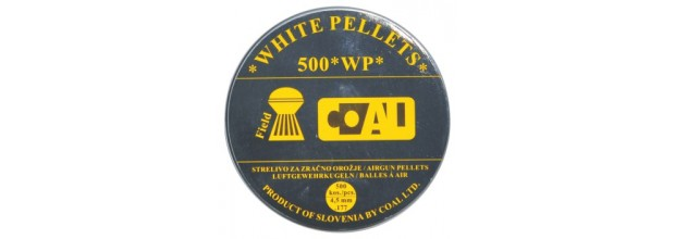 COAL AIRGUN PELLETS 500WP FIELD ROUND 4.5mm (0.56grs)