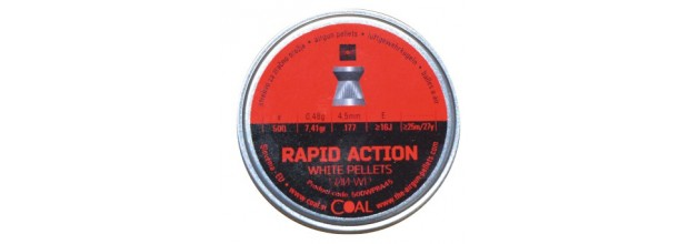 COAL AIRGUN PELLETS 200WP RAPID ACTION FLAT 4.5mm (0,48grs)
