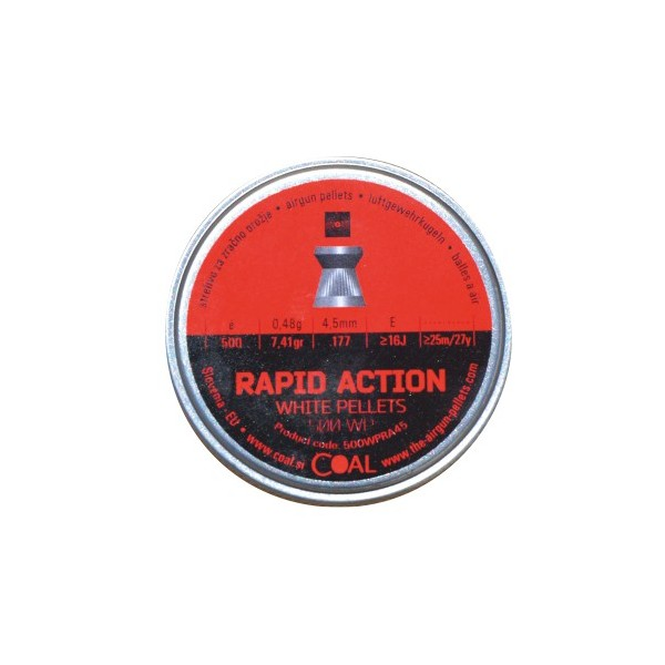 COAL AIRGUN PELLETS 500WP RAPID ACTION FLAT 4.5mm (0,48grs)