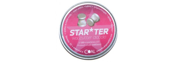 COAL AIRGUN PELLETS 500SW STARTER WADCUTTER FLAT 4,5mm (0,45grs)