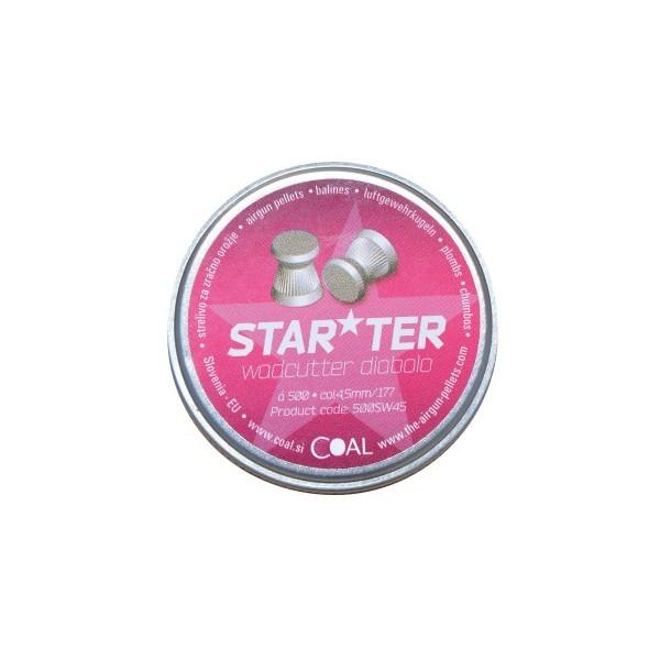 COAL AIRGUN PELLETS 500SW STARTER WADCUTTER FLAT 4,5mm (0,45grs)