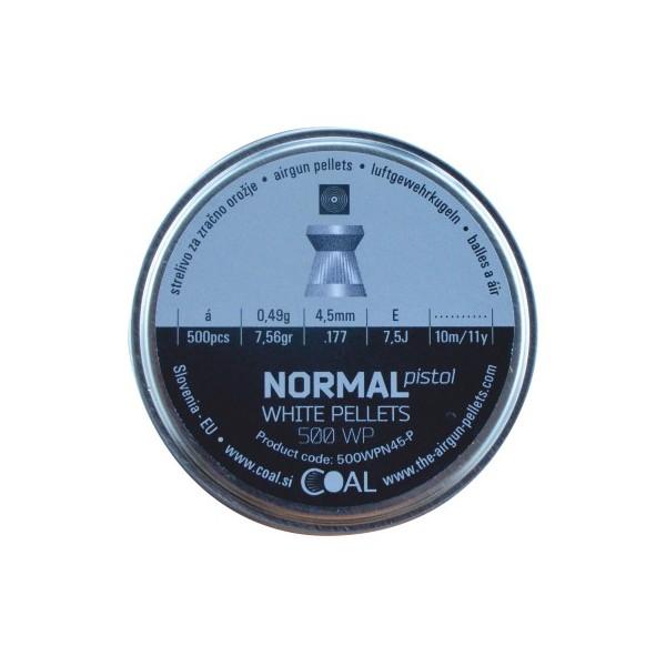 COAL AIRGUN PELLETS 500WP NORMAL PISTOL FLAT 4.5mm (0,49grs)
