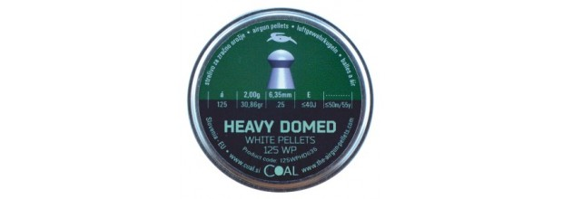 COAL AIRGUN PELLETS 125WP HEAVY DOMED ROUND 6.35mm (2,00grs)