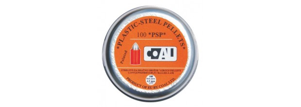 COAL AIRGUN PELLETS 100PS POINTED 4,5mm (0,40grs)