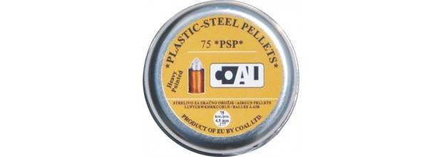 COAL AIRGUN PELLETS 75PS HEAVY POINTED 4.5mm (0.55grs)