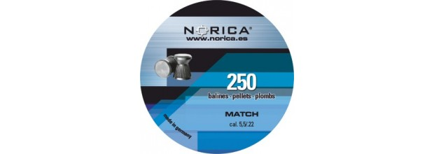 NORICA AIRGUN PELLETS MATCH FLAT 5.5mm (0.84grs) 250pcs