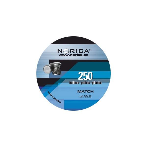 NORICA AIRGUN PELLETS MATCH FLAT 5.5mm (0.84grs) 250pcs