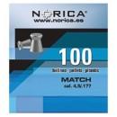 NORICA MATCH ΕΠΙΠΕΔΑ 4.5mm (0.55grs) 100τεμ.