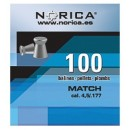 NORICA MATCH FLAT 4.5mm (0.55grs) 100pcs