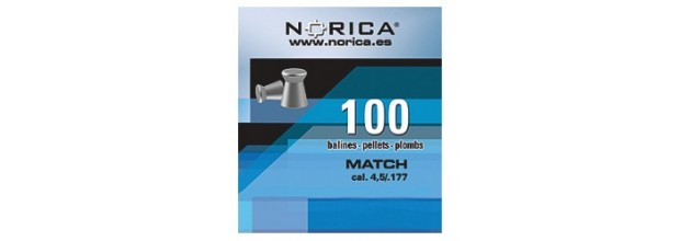 NORICA MATCH FLAT 5.5mm (1.10grs) 100PCS