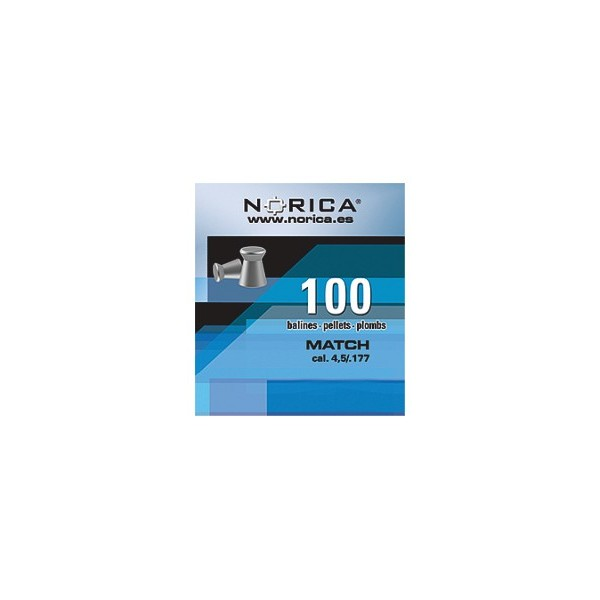 NORICA AIRGUN PELLETS MATCH FLAT 5.5mm (1.10grs) 100PCS