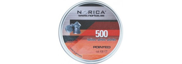 NORICA AIRGUN PELLETS POINTED H&N 4.5mm (0.56grs) 500pcs