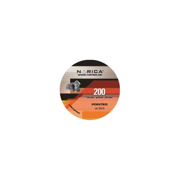 NORICA AIRGUN PELLETS POINTED H&N 5,5mm (1.02grs)