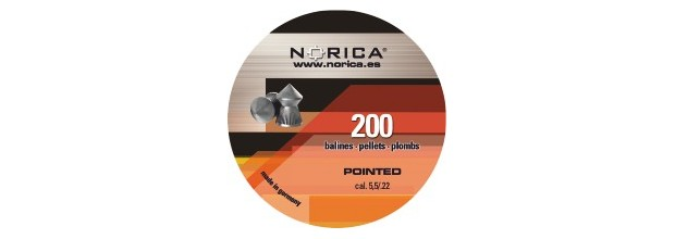 NORICA AIRGUN PELLETS POINTED H&N 6,35mm (1.61grs)