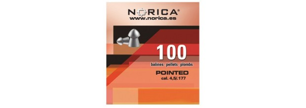 NORICA AIRGUN PELLETS POINTED 4.5mm (0.60grs)