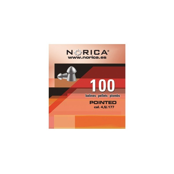 NORICA AIRGUN PELLETS POINTED .5mm (1,15grs)