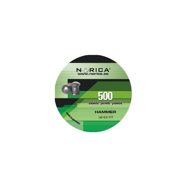 NORICA AIRGUN PELLETS HAMMER ROUND 4,5mm (0.51grs)