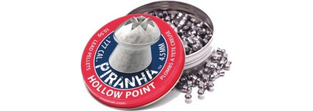 CROSMAN AIRGUN PELLETS PIRANHA HOLLOW POINT 4.5mm (10.5grs)
