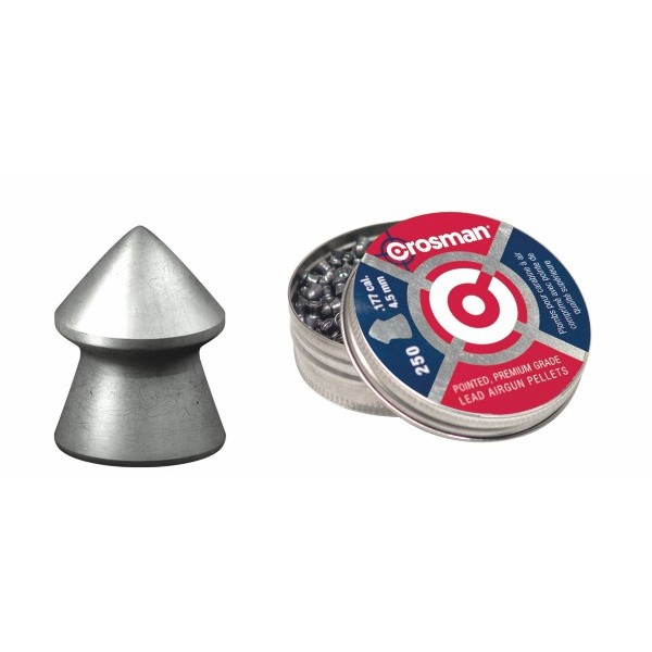 CROSMAN AIRGUN PELLETS POINTED 5,5mm (14,3grs)