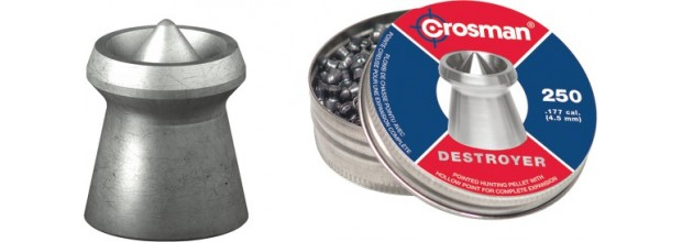 CROSMAN AIRGUN PELLETS DESTROYER 4.5mm (7,4grs)