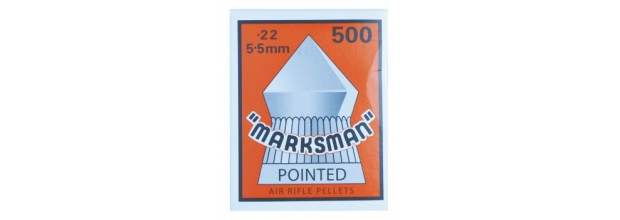 MARKSMAN AIRGUN PELLETS POINTED 5,5mm CARTON BOX