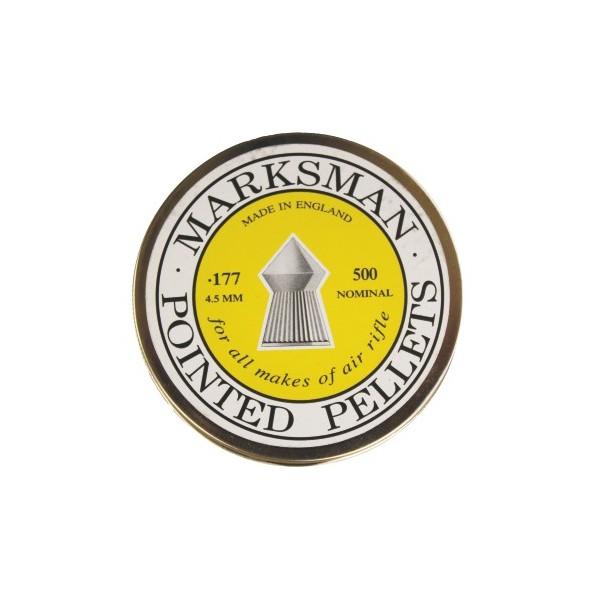 MARKSMAN AIRGUN PELLETS POINTED 4,5mm TIN