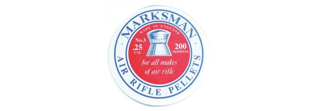 MARKSMAN AIRGUN PELLETS ROUND 6,35mm