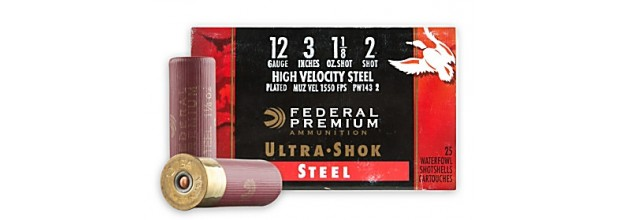 FEDERAL ULTRA SHOK STEEL MAGNUM PW143 C12 3''